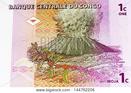 1 centimes bank note of Congo. Centimes is one of the currencies of Congo