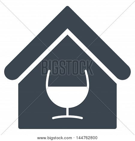 Alcohol Bar icon. Vector style is flat iconic symbol, smooth blue color, white background.