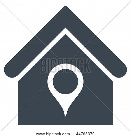 House Location icon. Vector style is flat iconic symbol, smooth blue color, white background.