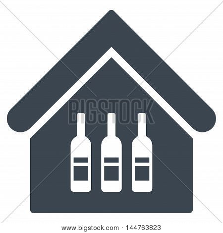 Wine Bar icon. Vector style is flat iconic symbol, smooth blue color, white background.