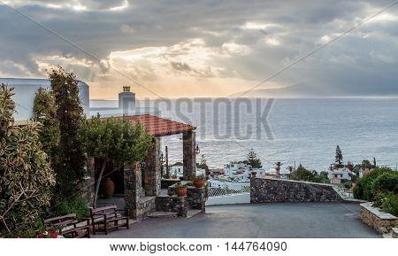 Scenic Sunrise On Crete Island