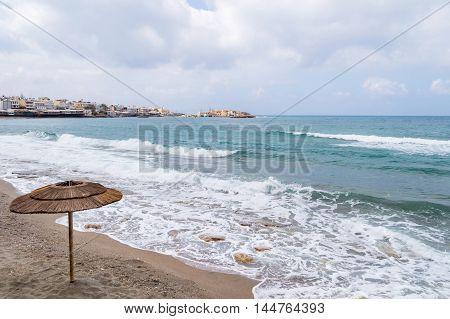 Mediterranean coast on Crete island, Greece, summer