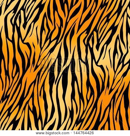 seamless tiger print pattern and background vector illustration