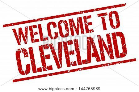 welcome to Cleveland. stamp. grunge square sign