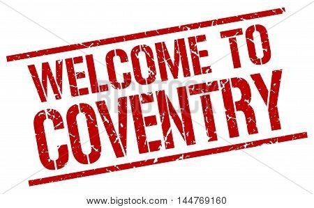 welcome to Coventry. stamp. grunge square sign