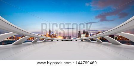illuminated hangzhou qianjiang new city from abstract window