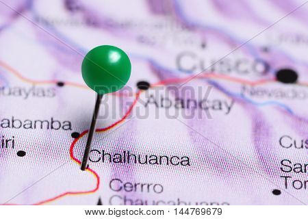 Chalhuanca pinned on a map of Peru