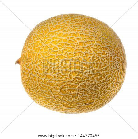 Ripe whole melon on a white background