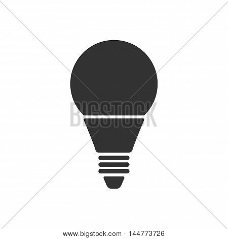 Led bulbs. Flat black icon light bulb. Energy saving lamp. Vector illustration