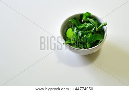 Basil in the Bowl for use in Thai Food Cooking