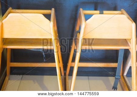 Two wood high chair baby wood chair