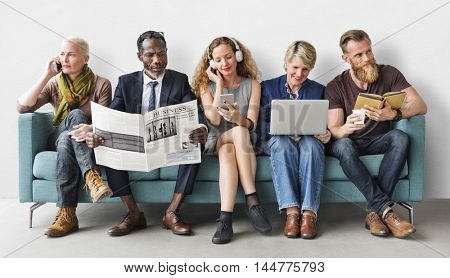 Diversity Group of People Lifestyle Communication Concept