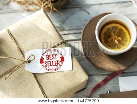 Best Seller Certificate Stamp Concept