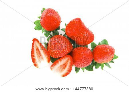 fresh berry: strawberry isolated over white background