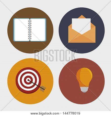 set social network d icons vector illustration design