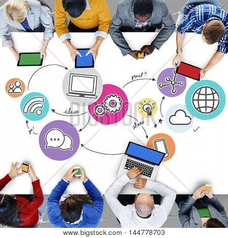 Internet Network Communication Connection Concept