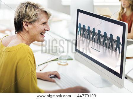 Group Team Work Organization Concept