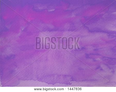 Grungy Violet Background On Textured Paper
