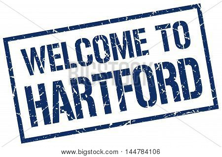 welcome to Hartford. stamp. grunge square sign
