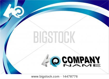 VECTOR Company/Corporate Business Card template with Logo