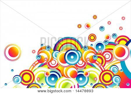VECTOR Stylish bubbles background