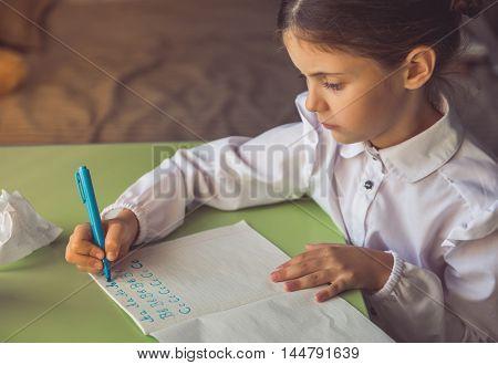 Charming Little School Girl
