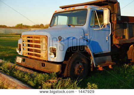 Old Blue Dump Truck