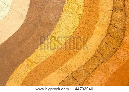 soil patterned layer of clay soil for the background.