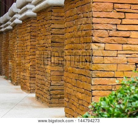 brick wall for the design and background.
