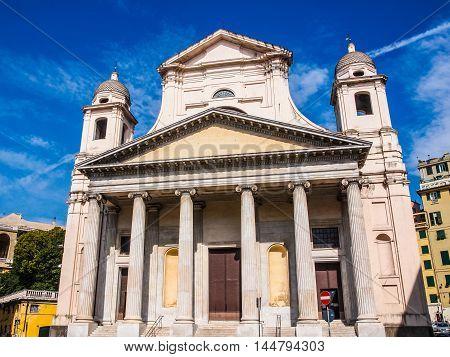 Santissima Annunziata Church In Genoa Italy Hdr