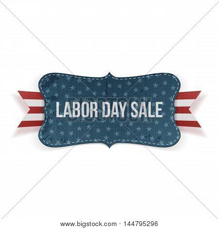 Labor Day Sale national Banner. Vector Illustration