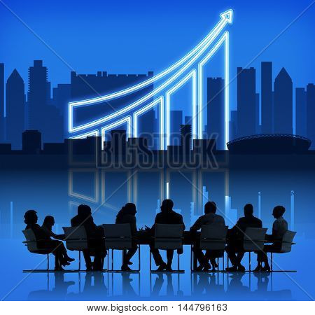 Increasing Business Graph Chart Data Concept