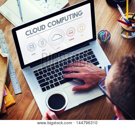 Cloud Computing Data Digital Storage Graphic Concept