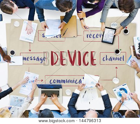 Social Media Online Connection Concept