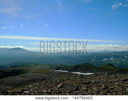 Kamchatka Landscape With Mountains