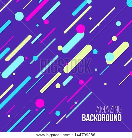 Abstract randomly lined colorful background. Funny vector illustration.