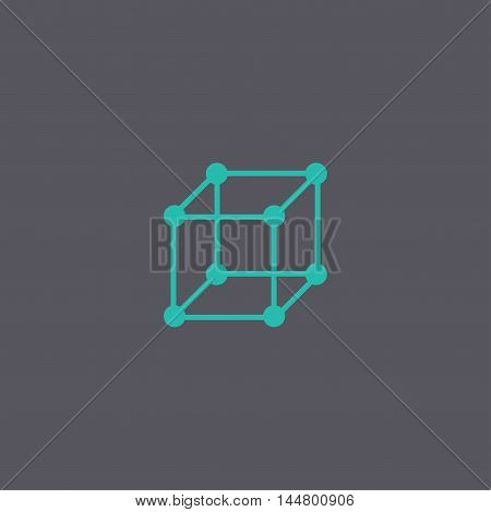 Cube Icon. Vector Concept Illustration For Design