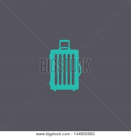 Travel Bag Icon. Vector Concept Illustration For Design