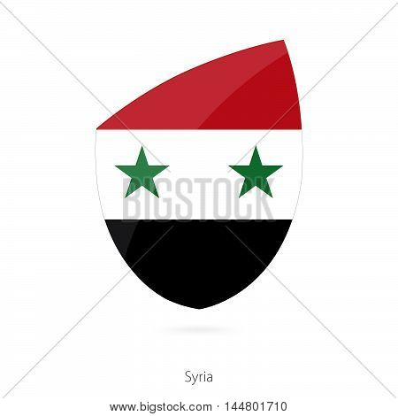 Flag of Syria in the style of Rugby icon. Vector Illustration.