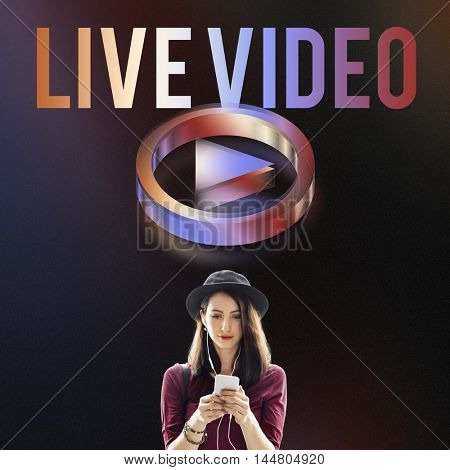 Live Video Multimedia Player Graphic Concept