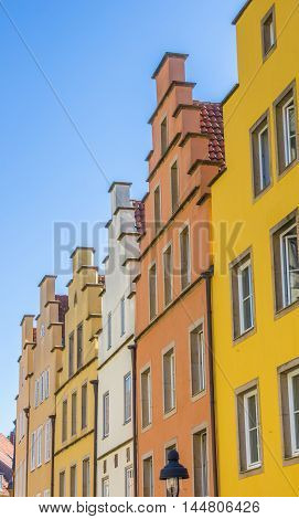 Colorful Step Gables At The Central Market Square In Osnabruck
