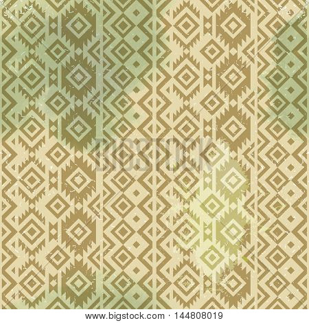 hand drawn tribal seamless pattern in vintage style