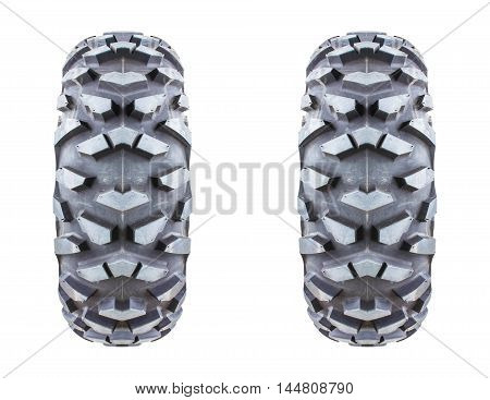 Tires isolated on white background apply design and background.