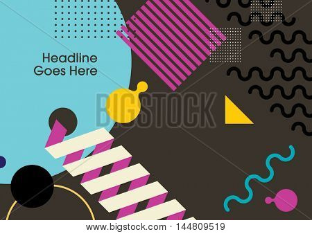 Vector of abstract flat graphic and background