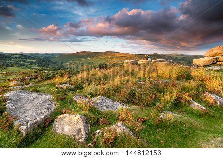 Watching The Sunset Over Dartmoor