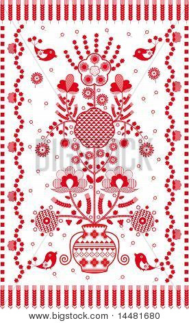 Embroidered Towel Traditional