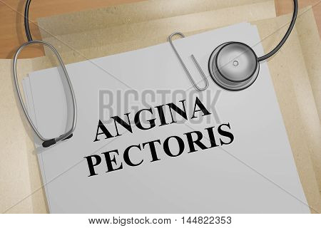 Angina Pectoris - Medical Concept