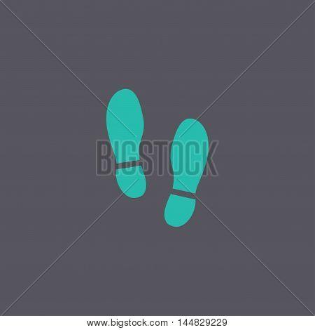 Imprint Soles Shoes Icon. Shoes Print