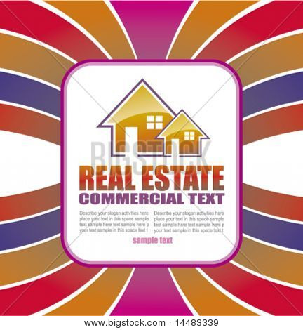 Abstract Real Estate Background for Brochure of flyers