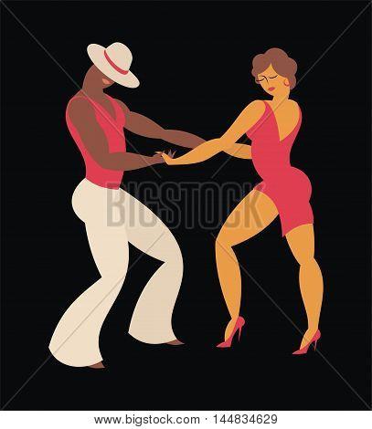 lady and gentleman dance Latin America  salsa